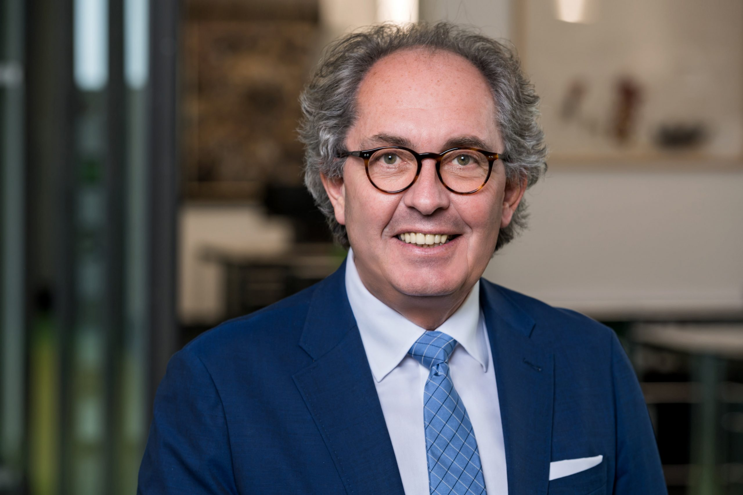 Managing Director der TMS Josef Pölcher lächelt